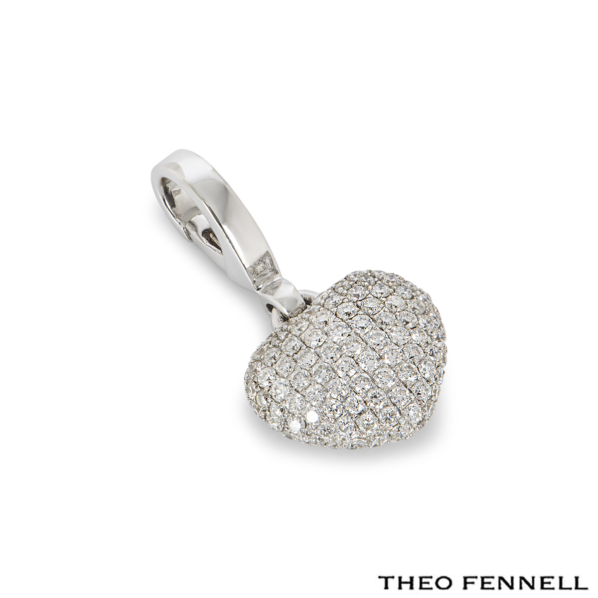Theo Fennell White Gold Diamond Heart Charm